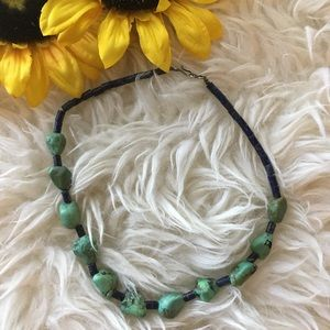 Jewelry - Green Turquoise and Lapis choker